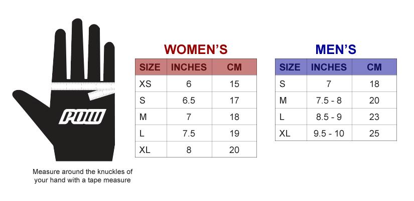 97e37ef6bcd POW Gloves Size Chart