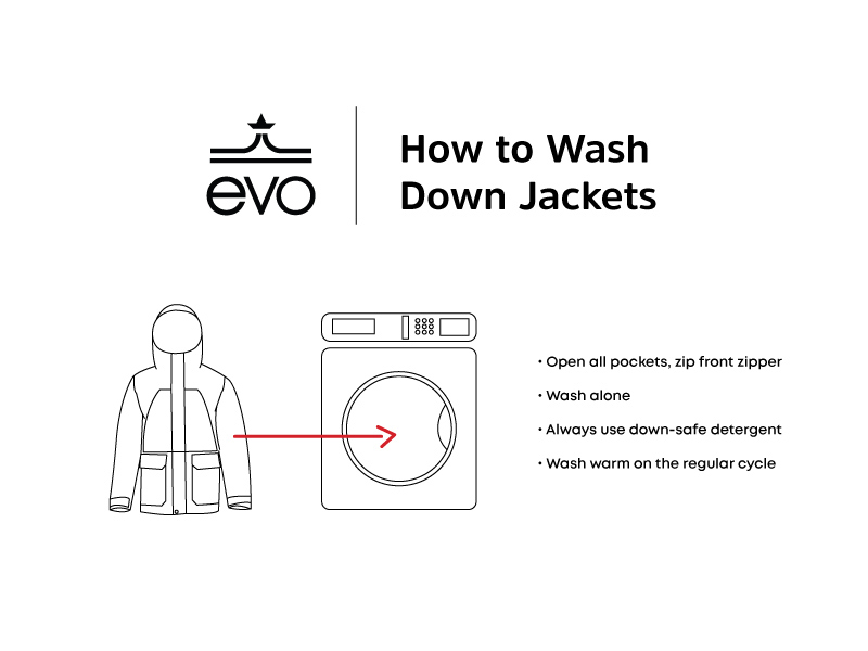 How to wash a down jacket.