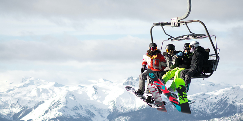 How to get on and off a chairlift on a snowboard