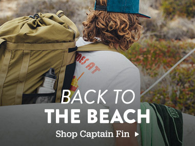 Back to the beach. Shop Captain Fin.