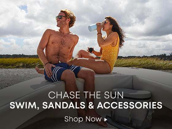 Chase the Sun. Swim, Sandals and Accessories. Shop Now.