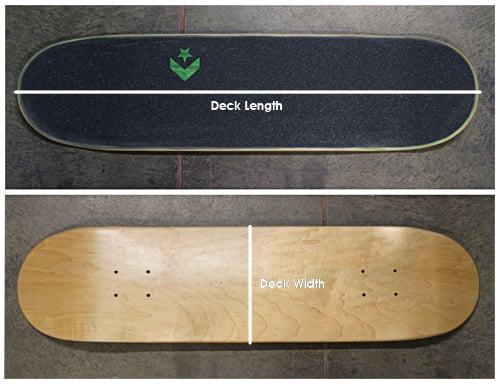 Skateboard Guide And Skate Size Chart Evo