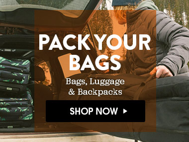 Pack Your Bags. Shop Now.