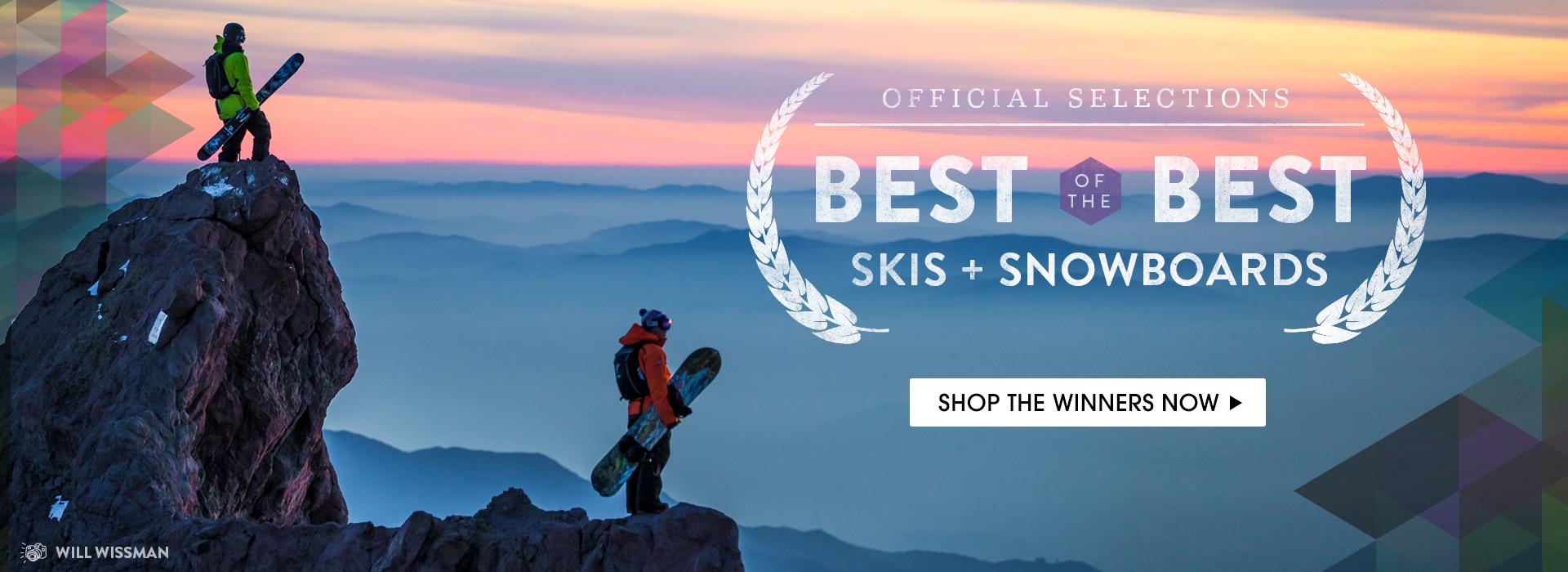 Award Winning Skis & Snowboards.