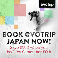 evoTrip Japan Book Now and Save $500.