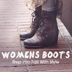 Womens Boots. Step Into Fall With Style.