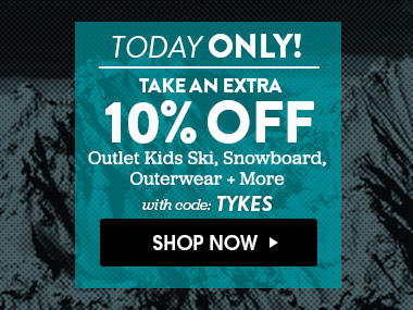 Today Only. Extra 10% Off. With Code - TYKES