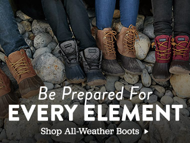 Be Prepared For Every Element. Shop All-Weather Boots.