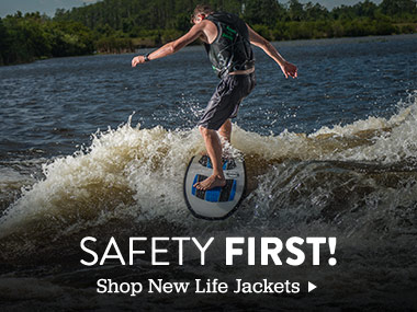 Safety First. Shop new life jackets.