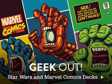 Geek Out! Star Wars and Marvel Comics Decks.