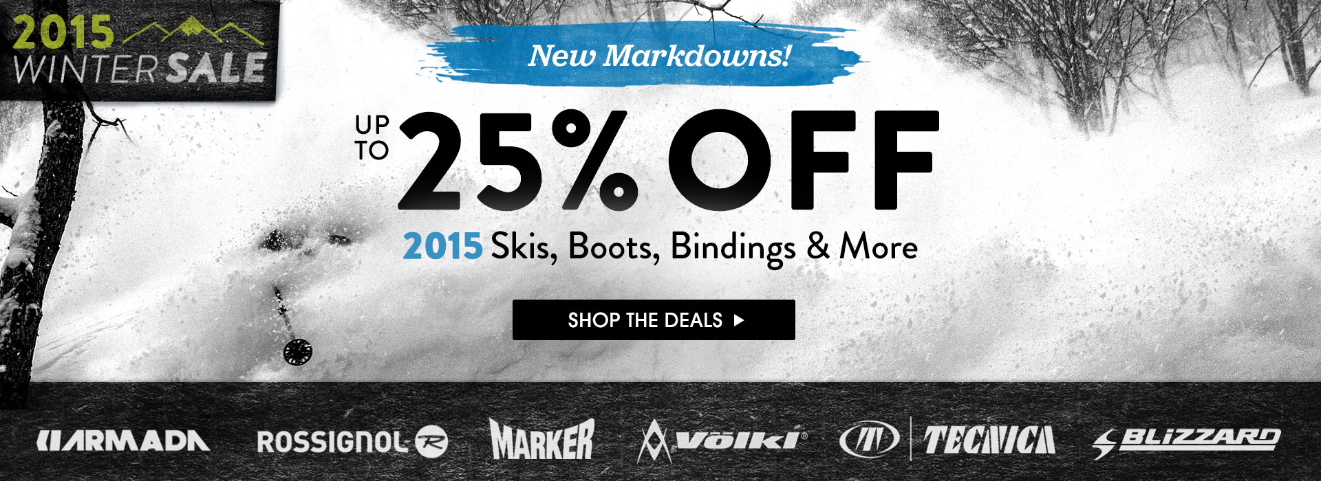 2015 Winter Sale. Save Up To 25% Off Select Ski Brands!