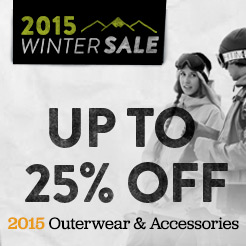 Up To 25% Off 2015 Outerwear and Accessories.