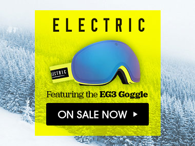 Electric, Featuring the EG3 Goggle. On Sale Now.