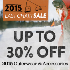 Up To 30% Off 2015 Outerwear and Accessories.