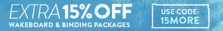 Extra 15% Off Outlet Wakeboard Packages. Use Code:15MORE