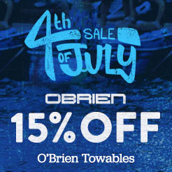 15% Off Obrien Towables.