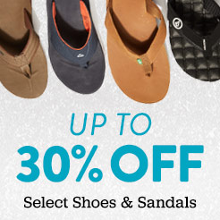 Up to 30% Off Select Shoes and Sandals