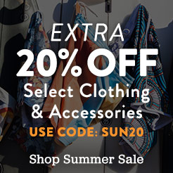 Extra 20% Off Select Summer Clothing and Accessories. Use Code: SUN20.