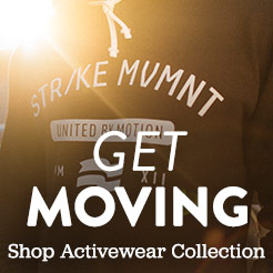 Get Moving. Shop the Men's Activewear Collection