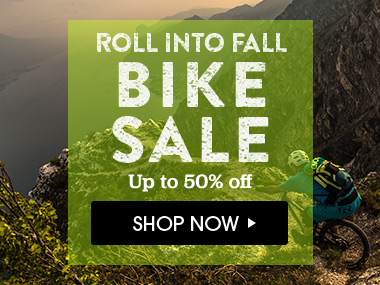 Roll into Fall Bike Sale. Up to 50% off. Shop Now.