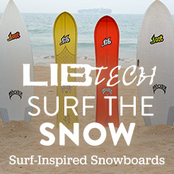Lib Tech. Surf the Snow with Surf-Inspired Snowboards