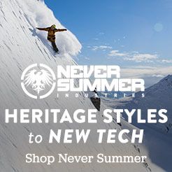 Never Summer - From Heritage Styles to New Tech for 2016.