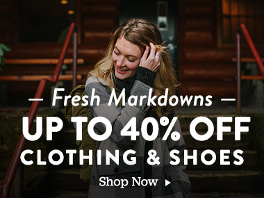Fresh Markdowns! Up to 40% Off Clothing and Shoes