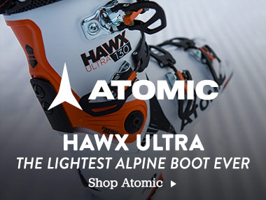Atomic Hawx Ultra. The Lightest Alpine Boot Ever. Shop Now.