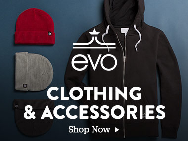 evo Clothing and Accessories. Shop Now.