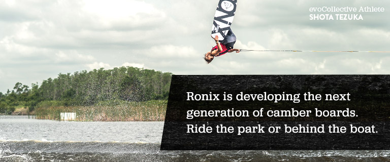 Ronix is developing the next generation of camber boards. Ride the park or behind the boat.