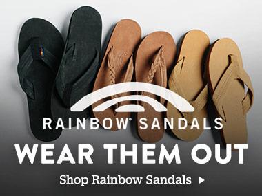 Rainbow Sandals. Wear them out. Shop Rainbow Sandals.