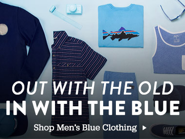 Out with the old in with the blue. Shop Men's Blue Clothing.