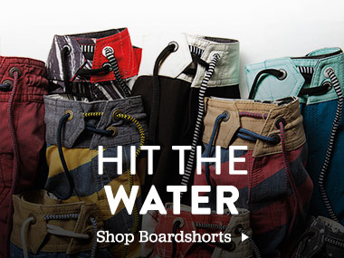 Hit the Water. Shop Boardshorts.
