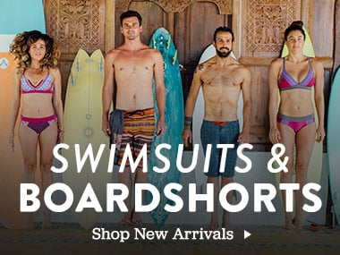 Swimsuits and boardshorts. Shop New Arrivals.