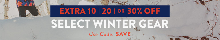 Extra 10, 20 or 30% Off Select Winter Gear. Shop Sale.