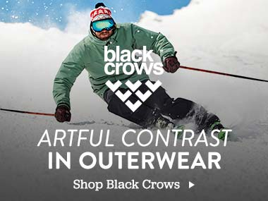 Black Crows. Artful Contrast in Outerwear. Shop Black Crows.