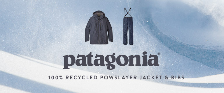 patagonia 100 percent Recycled Powslayer Jacket and Bibs