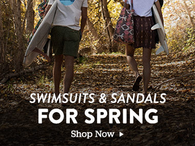 Swimsuits and Sandals For Spring. Shop Now.