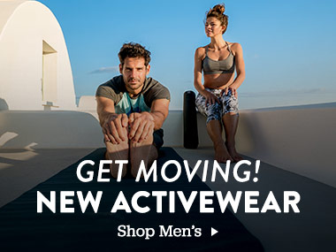 Get Moving! New Activewear. Shop Mens