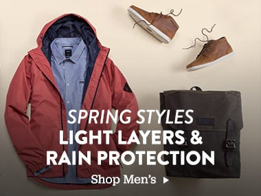 Spring Styles. Light layers and rain protection. Shop Men's.
