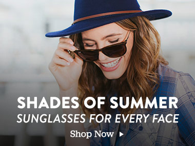 Shades of Summer. Sunglasses for Every Face. Shop Now.