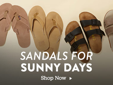 Sandals For Sunny Days. Shop Now.