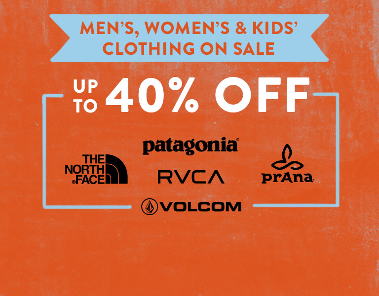 The Memorial Day Sale. Up To 40% Off Clothing.