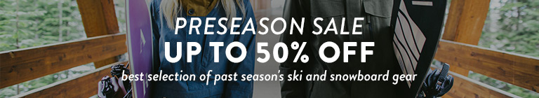 Pre-season Sale. Up to 50% off.