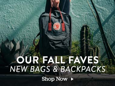 Our Fall Faves. New Bags and Backpacks. Shop Now.