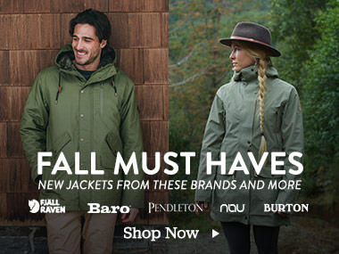 Fall Must Haves. New Jackets from these brands and more. Fjallraven, Baro, Pendleton, Nau, Burton. Shop Now.