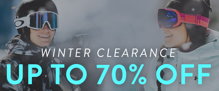 Winter Clearance. Up to 70% Off.