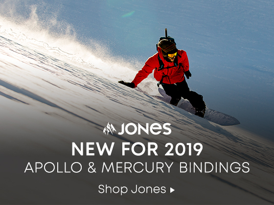Jones. New for 2019. Apollo and Mercury Bindings. Shop Jones.