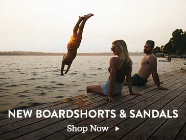 New Boardshorts and Sandals. Shop Now