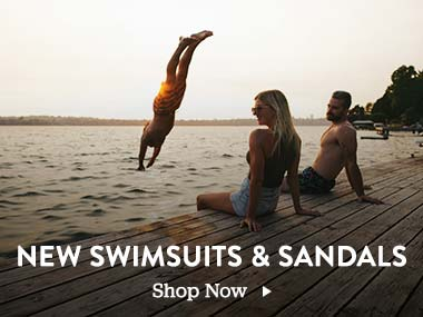 New Swimsuits and Sandals. Shop Now